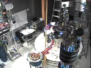 Time lapse movie showing the construction of the CDMS experiment at Soudan