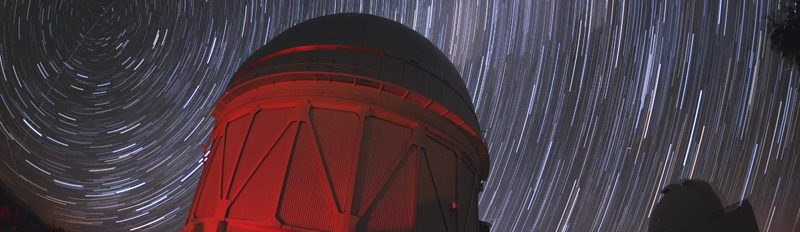 The night sky over the Blanco Telescope in Chile
