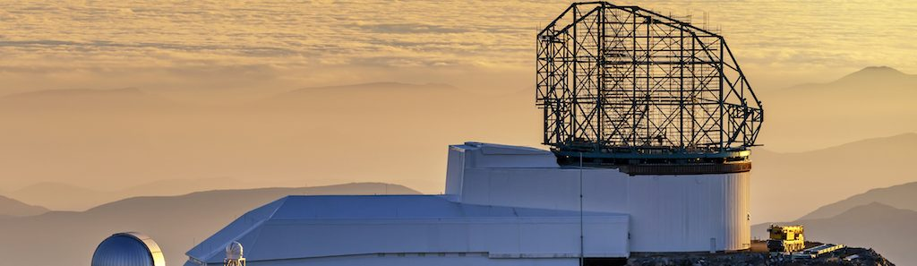 The Large Synoptic Survey Telescope at sunset